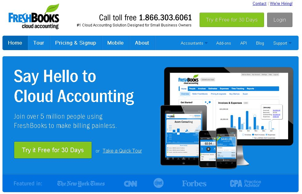 Specifications Accounting Software Freshbooks